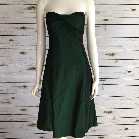 Zara Dresses | Strapless Green Dress Size
